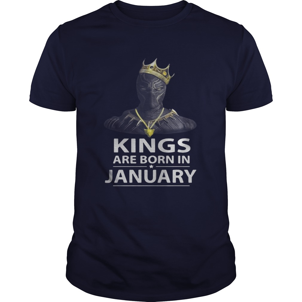 Black Panther Kings Are Born In January T-Shirt