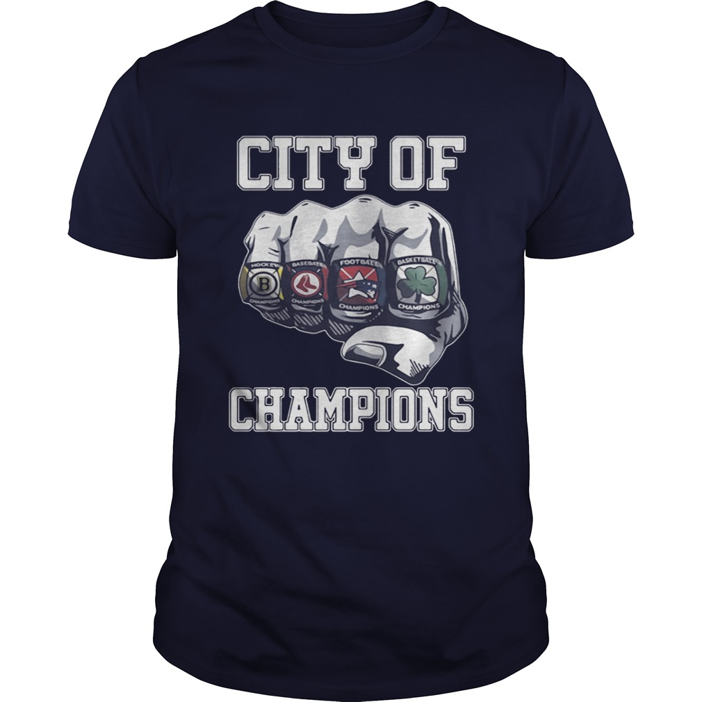 City Of Champions Boston Sports Teams Citizen Shirt