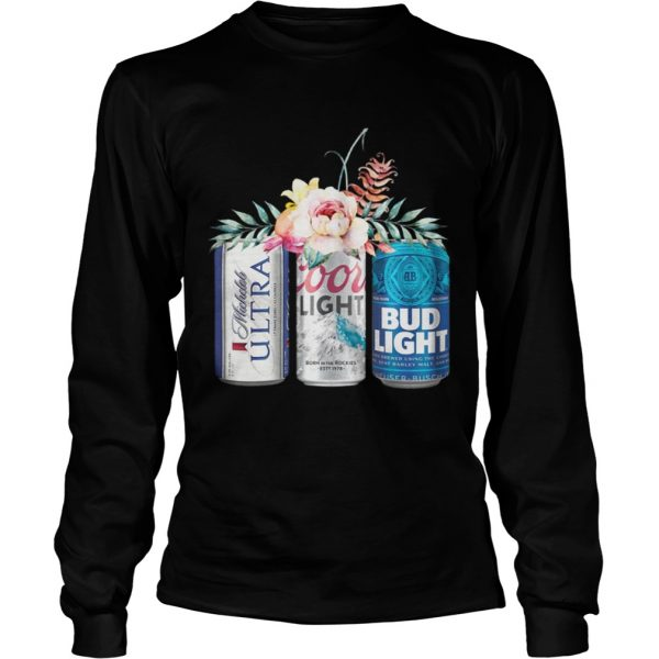 Coors Light Bud Light Michelob Ultra Beer longsleeve tee unisex