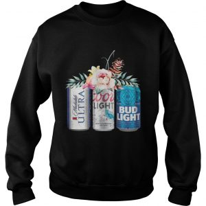 Coors Light Bud Light Michelob Ultra Beer sweatshirt