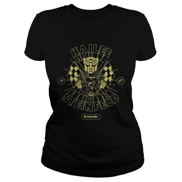 Hailee Steinfeld Bumblebee Transformers New small Promo classic ladies tee