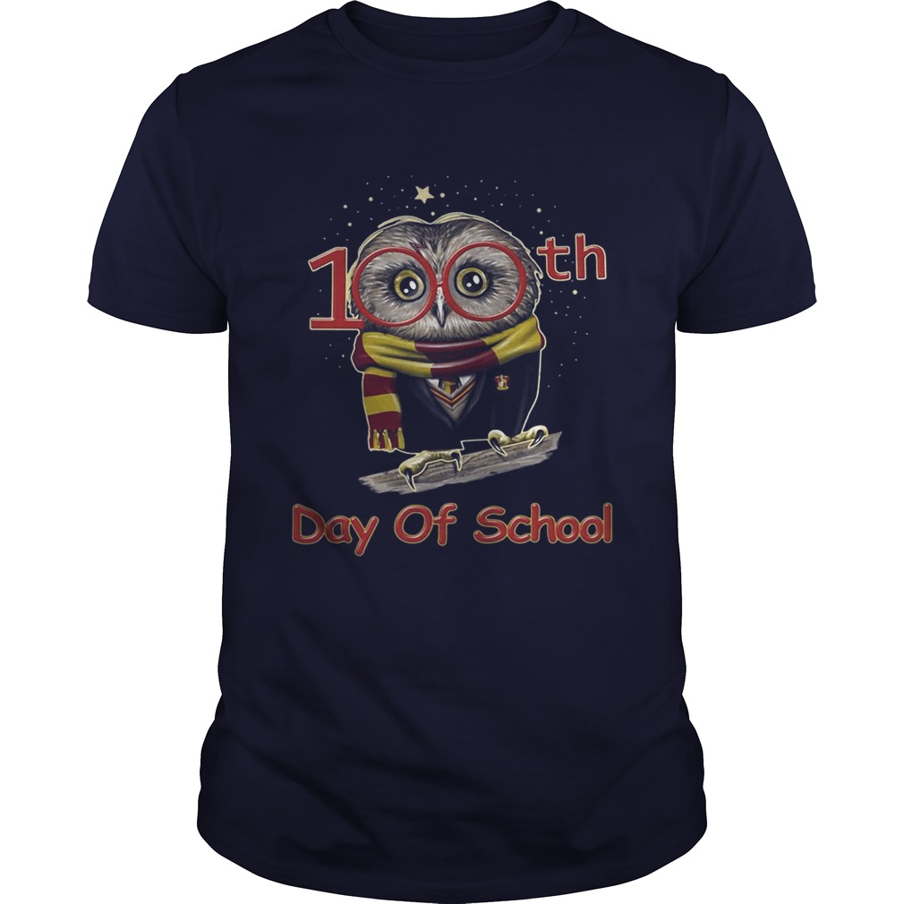 Harry Potter owl 100th days of school shirt