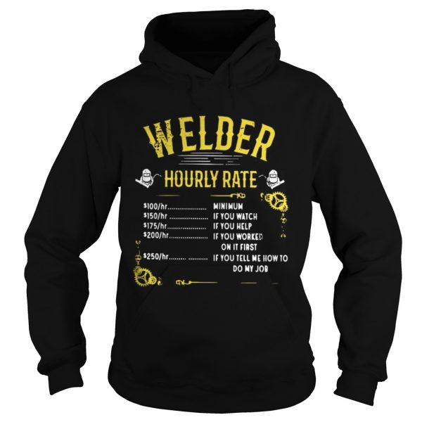 Welder hourly rate hoodie