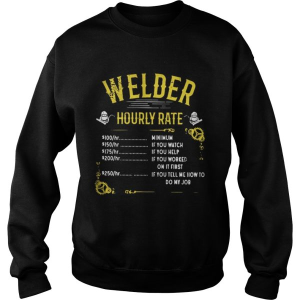 Welder hourly rate sweat