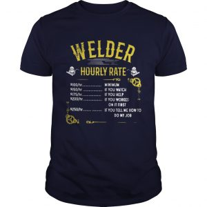 Welder hourly rate unisex