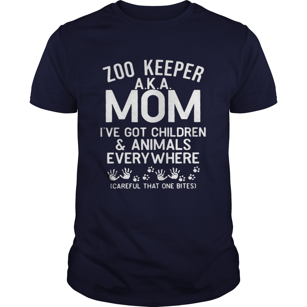 Zoo Keeper Aka Mom I've Got Children And Animals Everywhere Shirt