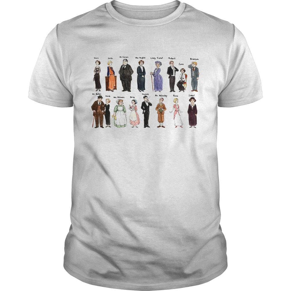 Downton Abbey characters shirt