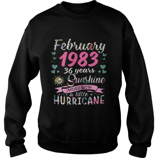 February 1983 36 years sunshine mixed with a little hurricane sweatshirt
