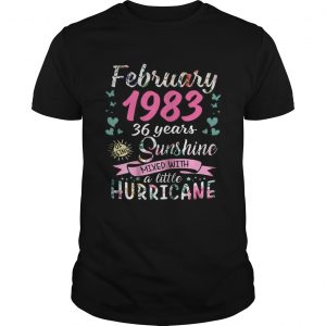 February 1983 36 years sunshine mixed with a little hurricane unisex