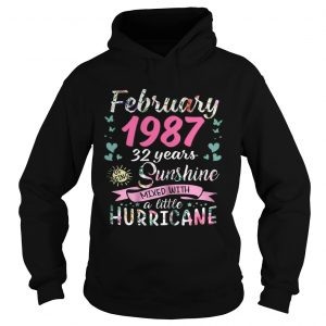 February 1987 32 years sunshine mixed with a little hurricane hoodie