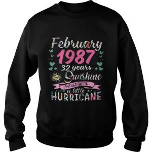February 1987 32 years sunshine mixed with a little hurricane sweatshirt