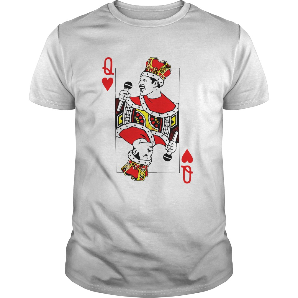 Freddie Mercury save the Queen playing card shirt
