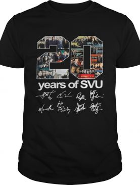 20 years of SVU Law and Order all signatures shirts