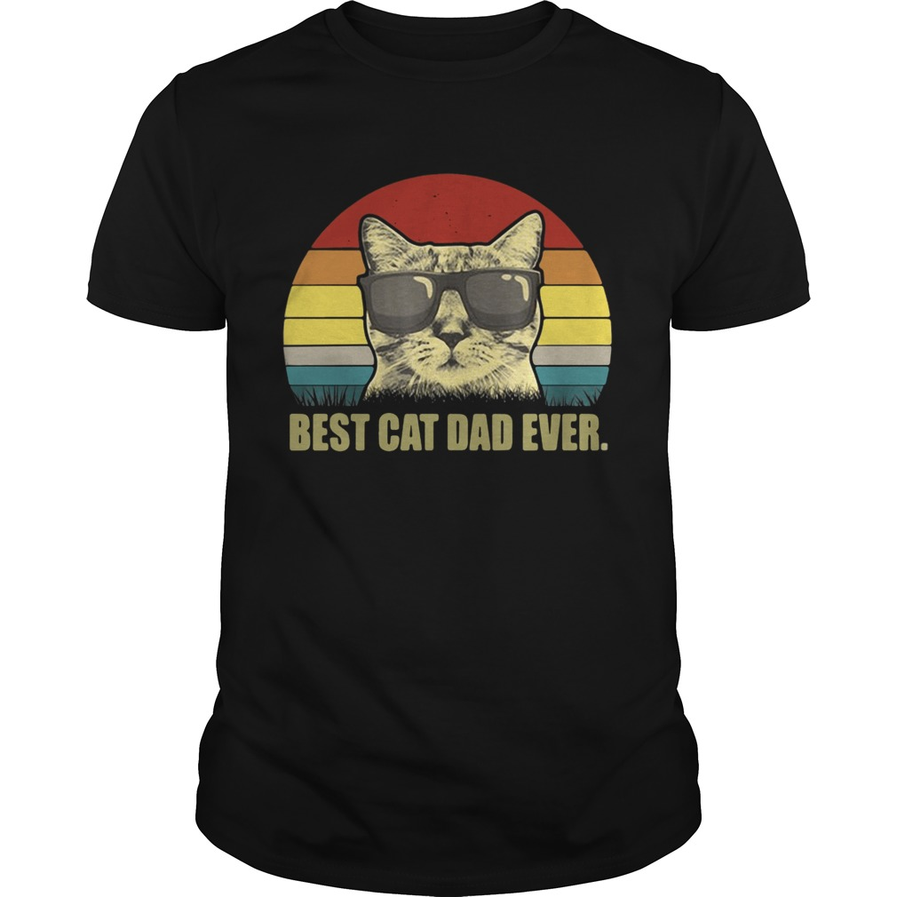 Best Cat Dad Ever Sunset shirt