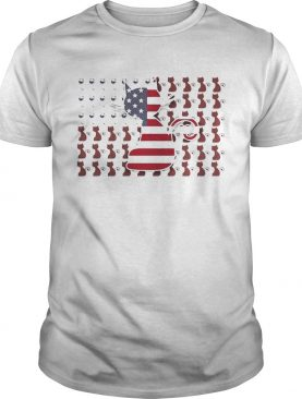Cat and Wine American Flag shirt