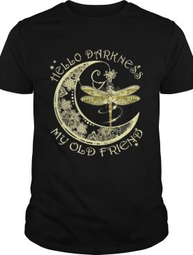Dragonfly crescent moon hello darkness my old friend shirt