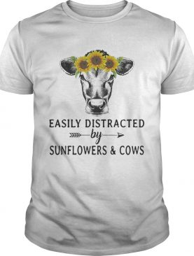 Easily distracted by sunflower and cows shirts