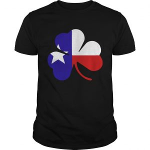 Irish Texas Flag Shamrock St Patricks unisex