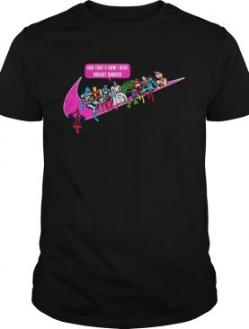 Jesus and Superhero and that's how I beat breast cancer shirt