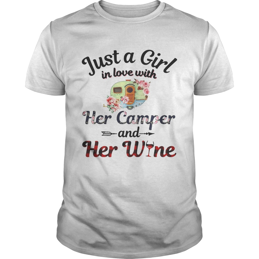 Just a girl in love with her camper and her wine shirt