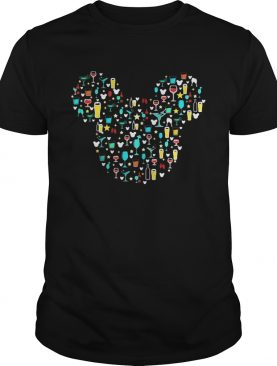 Mickey Mouse Disney wine beer witch cocktails shirt