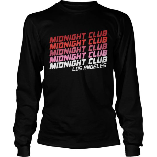 Midnight club Los Angeles longsleeve tee