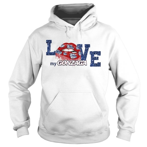Rocky Horror Lips love my Gonzaga Bulldogs hoodie