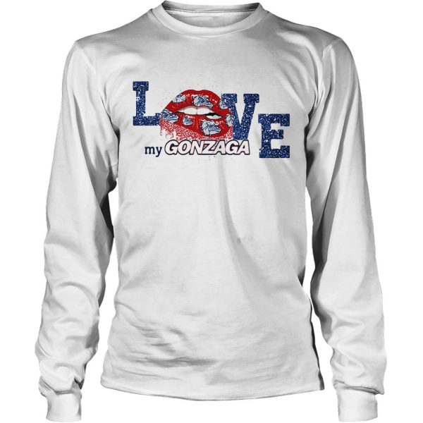 Rocky Horror Lips love my Gonzaga Bulldogs longsleeve tee