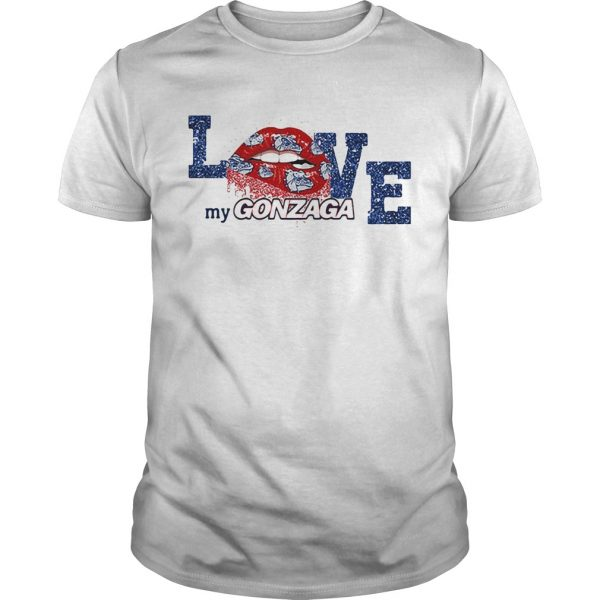 Rocky Horror Lips love my Gonzaga Bulldogs unisex