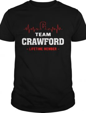 Team Crawford lifetime member shirt