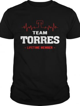 Team Torres lifetime member shirt
