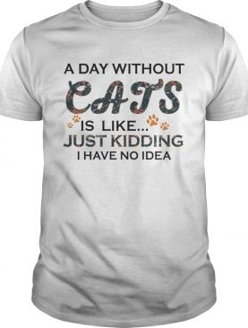 A Days Without Cats Is Like Just Kidding I Have No Idea White Version shirt