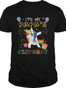 Awesome It's My Papa's Birthday Funny Kid T-Shirts