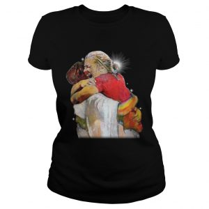 Christian First Day in Heaven Hug Of God ladies tee