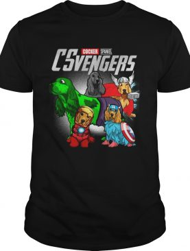 Cocker Spaniel CSvengers Marvel Avengers engame shirt