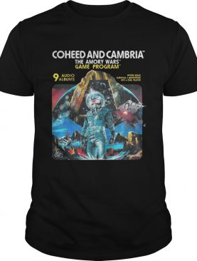 Coheed and Cambria The Amory Wars Game Program 9 audio albums shirts