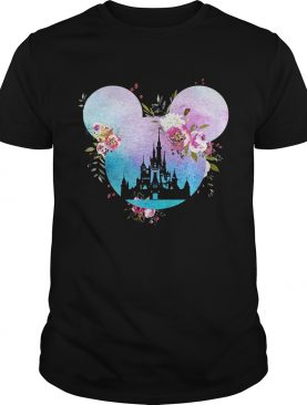 Disney in Mickey Mouse head shirt