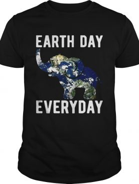 Earth Day Every Day Elephant Earth Symbol Earth Day T-shirt