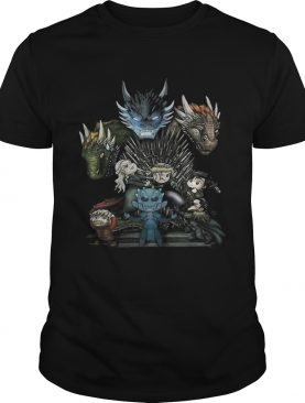 Game of Thrones Daenerys Targaryen Rhaegal and Viserion Chibi shirt