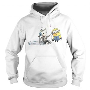 Groot And Minion Listening To Music hoodie