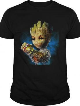 Groot with the infinity gauntlet shirt