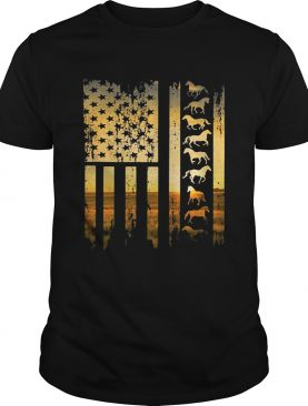 Horse flag america sunset shirt