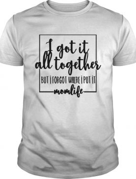 I got it all to gether but I forgot where I put it momlife shirt