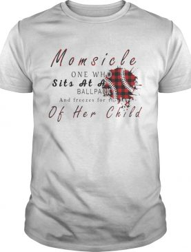 Momsicle One Who Sits As A Ballpark And Freezes For The Love Of Her Child Softball Plaid Version – T-shirts