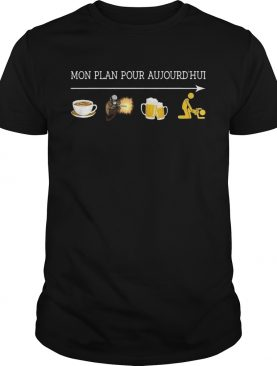 Mon plan pour aujourd'hui I like coffee welder beer and sex shirt