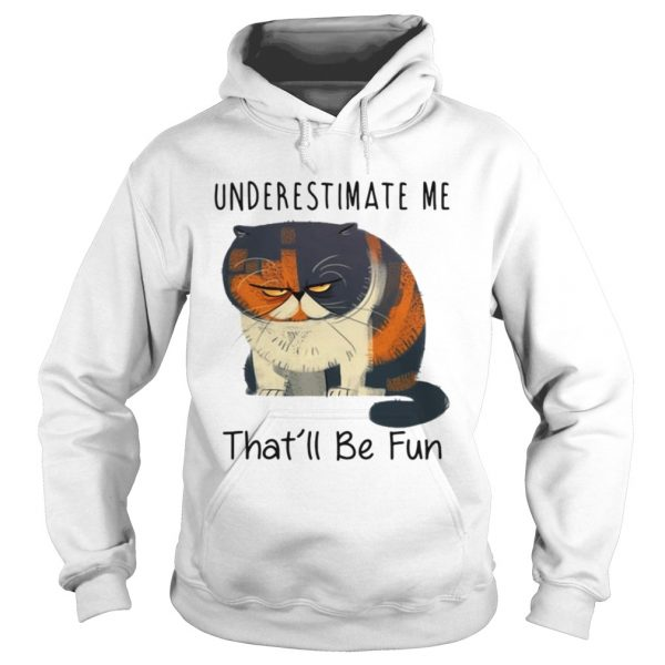 Pudge the Cat underestimate me thatll be fun hoodie