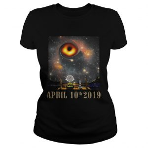 Snoopy and Charlie Brown watching the black hole April 10th 2019 ladies tee