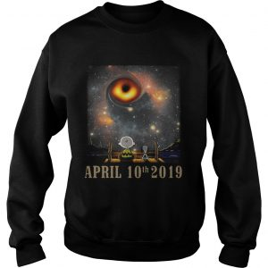 Snoopy and Charlie Brown watching the black hole April 10th 2019 sweatshirt