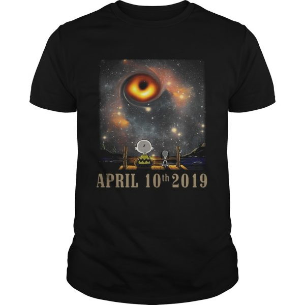 Snoopy and Charlie Brown watching the black hole April 10th 2019 unisex