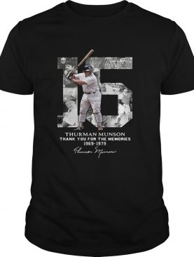 Thurman Munson thank you for the memories 1969 1979 signature shirts